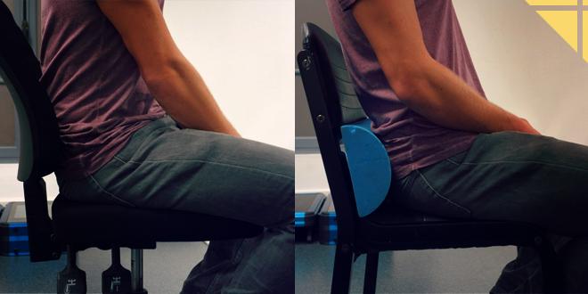 coussin lombaire chaise trop haut vs trop bas