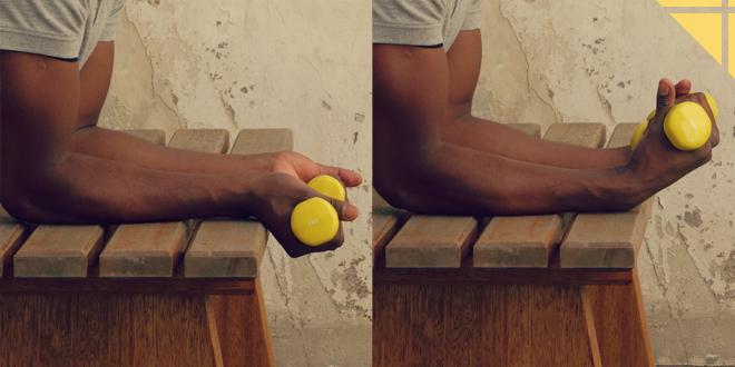 flexion de poignets Bras exercice