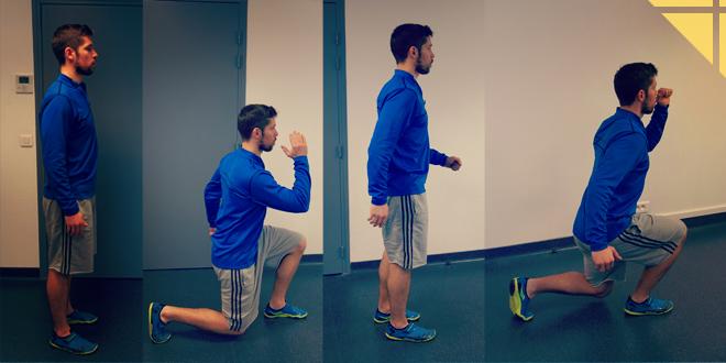 marche en fentes exercice musculation cuisse femme homme