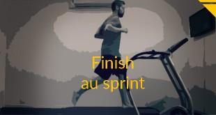 finish sprint running