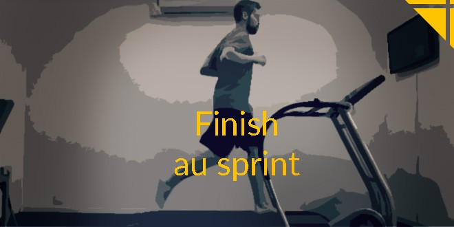 finish sprint running