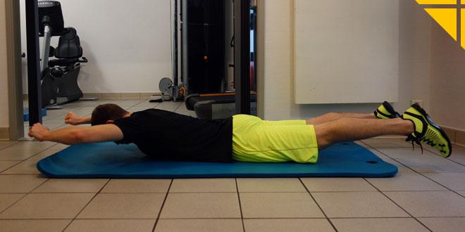 renforcer dos exercice superman muscles dorsaux