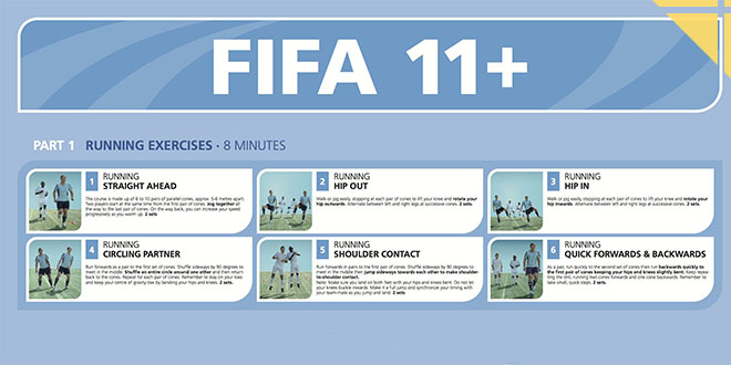 echauffement football fifa 11